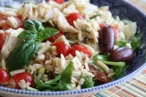 Chicken Orzo Artichoke Salad