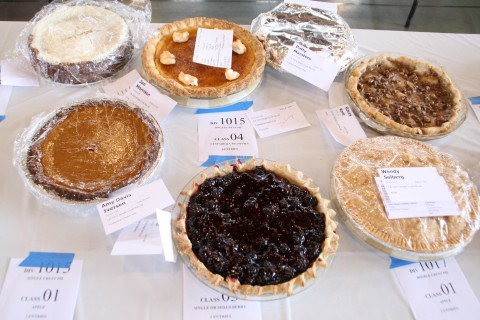 Judging the pie contest at the Orange County Fair July 2011