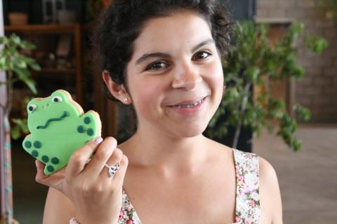 Katie Reinhold judging cookies