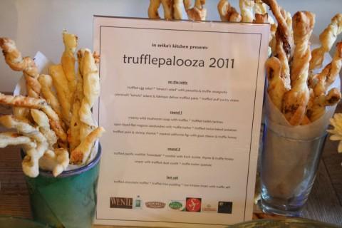 Menu for Trufflepalooza 2011