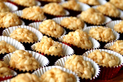 Truffled Rice Krispies Treats on Shockingly Delicious