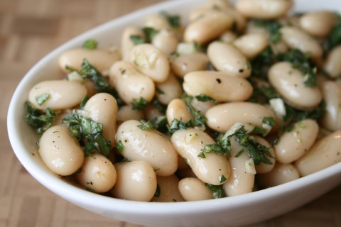 Cannellini Beans with Garlic, Olive Oil and Oregano