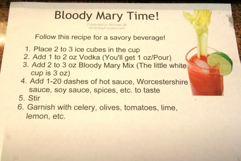 Bloody Mary Bar instructions