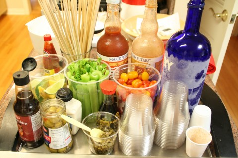 Bloody Mary Bar for Parties