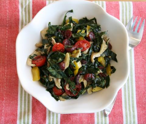 Raw Rainbow Kale Salad of the Gods