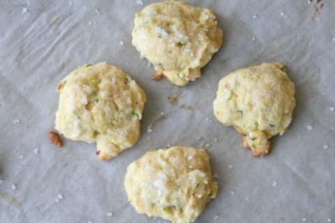 Lemon Zucchini Cornmeal Cookies on Shockingly Delicious