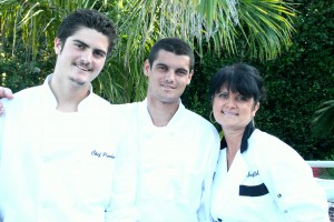 Christel Shaw and her sons