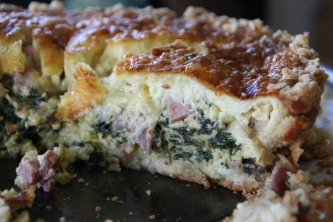 Swiss Chard and Salumi Tart from Gisele Perez