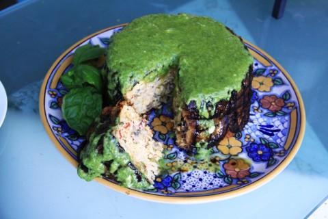 Eggplant Millet Souffle for Meryl Streep