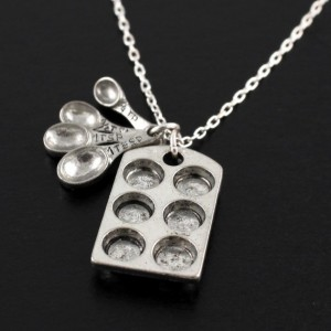 Muffin tin necklace