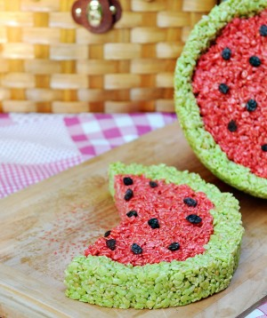Rice Krispies watermelon from Dine and Dish