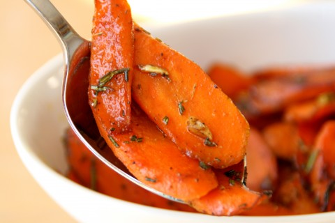 Honeyed Carrots on Shockingly Delicious