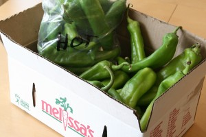 Hatch chiles from Melissa's World Variety Produce
