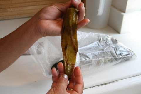 Peeled Hatch chile