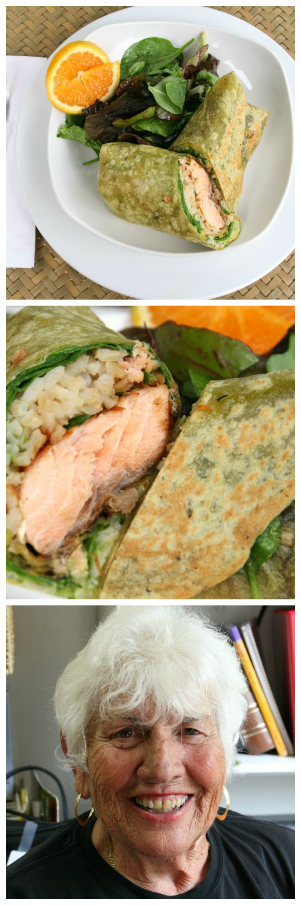 Salmon Wrap Sandwich from The Godmother Cafe of Malibu.