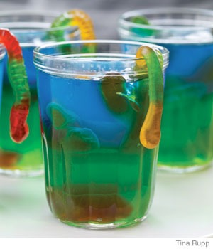 Slimy Jell-O Snacks for Halloween