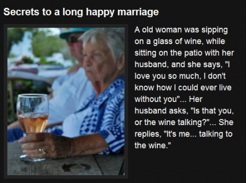 Secret of a happy marriage