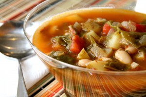 Vegetarian Chard Soup on Shockingly Delcious