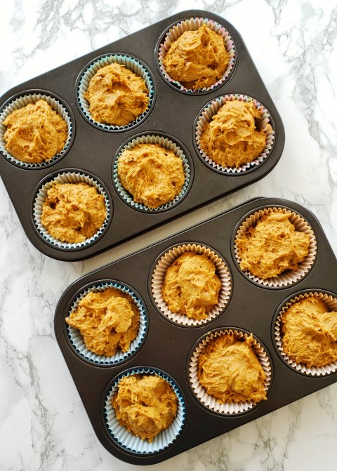 Cheater Pumpkin Muffin recipe makes 12 on ShockinglyDelicious.com