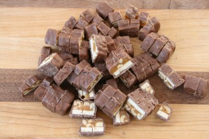 Chopped Snickers Bars