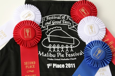 Ribbons from pie contest