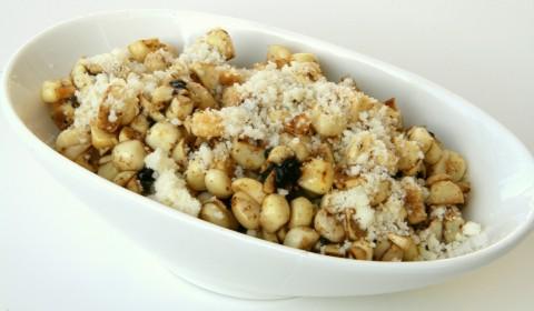 Corn with Black Garlic and Parmesan