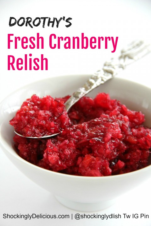 Fresh Cranberry Relish on ShockinglyDelicious.com