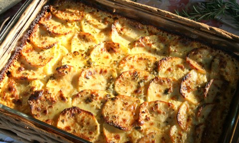 Garlic and Herb Potato Gratin