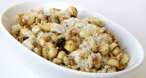 Corn with Black Garlic and Parmesan on ShockinglyDelicious.com