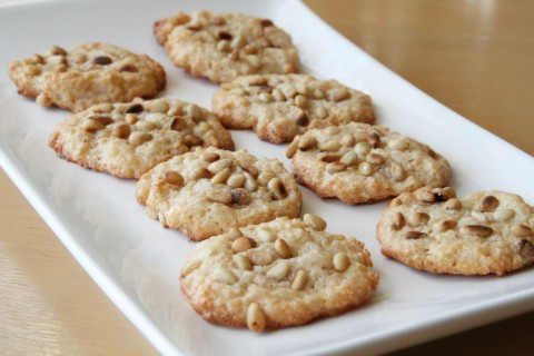 Platter of pignoli cookies