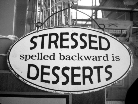 Stressed spelled backwards
