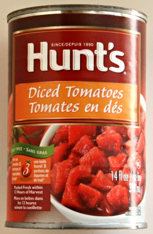 Diced tomatoes in juice