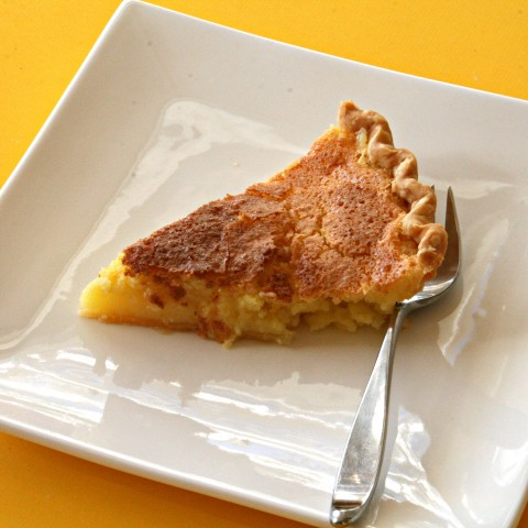 Meyer Lemon Chess Pie on ShockinglyDelicious.com
