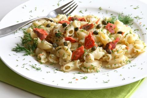 Lemony Pasta with Smoked Salmon and Dill
