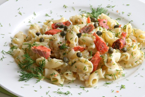 Lemony Pasta with Smoked Salmon and Dill