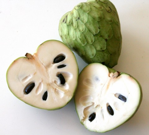 cherimoya cut open