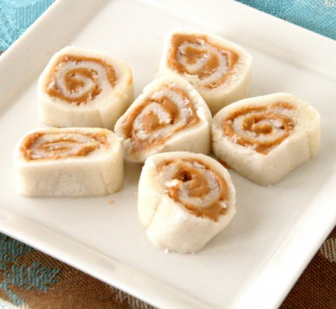Potato Peanut Butter Pinwheels