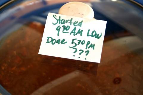 Label the crock-pot