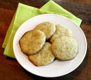 Lemon-Lime Basil Shortbread Cookies