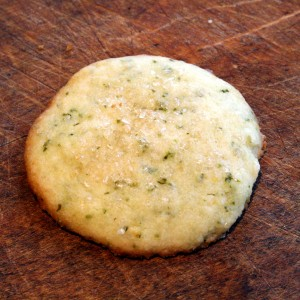 Lemon-Lime Basil Shortbread Cookies