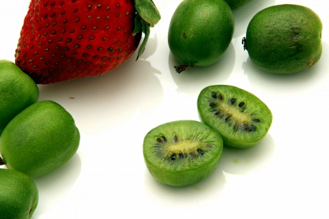 Baby Kiwi Fruit, also known as Kiwi Berries, are the