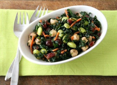 Better Than Trader Joes's Kale and Edamame Bistro Salad | ShockinglyDelicious.com