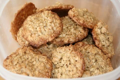 Flourless Caramel Oat Cookies