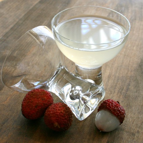 Fresh Lychee Vodka Cocktail