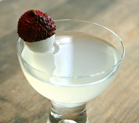 Fresh Lychee Vodka Cocktail