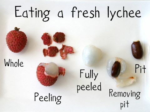 How to eat fresh lychees