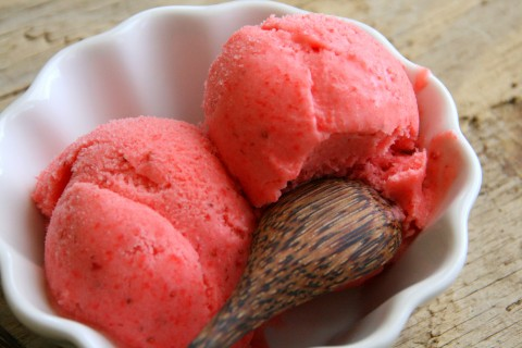 Strawberry Gelato from Hazan Family Favorites