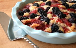 Strawberry-Blackberry Cake on Shockinglydelicious.com