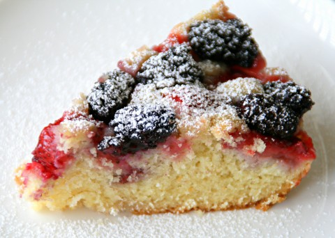 Strawberry-Blackberry Cake
