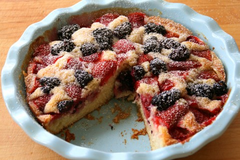 Strawberry-Blackberry Cake on Shockinglydelicious.com